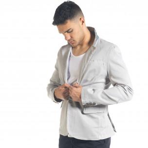 Спортно мъжко сако в сиво