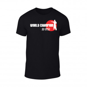 Мъжка черна тениска World Champion Jiu Jitsu