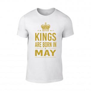 Мъжка тениска Kings Are Born In May, размер XL