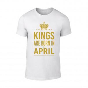 Мъжка черна тениска Kings Are Born In April