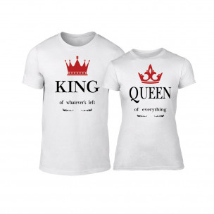 Тениски за двойки King Queen бели 2