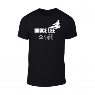 Мъжка черна тениска Bruce Lee