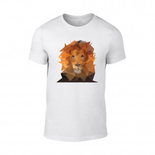 Мъжка бяла тениска Lion