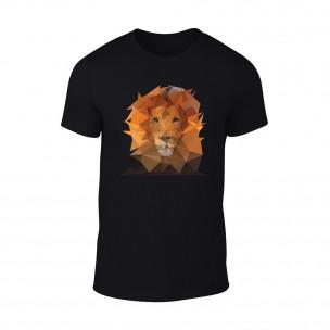 Мъжка черна тениска Lion