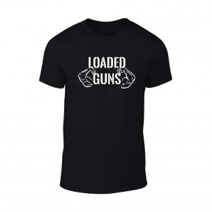 Мъжка черна тениска Loaded Guns