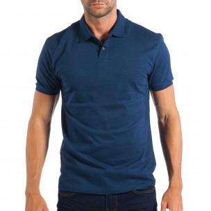 Мъжка синя тениска Reserved тип Polo shirt
