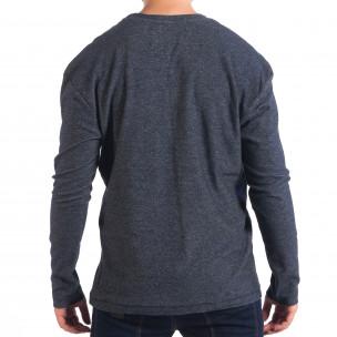 Мъжка блуза RESERVED в син меланж с джоб  2