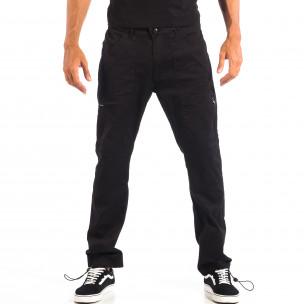 Мъжки черен панталон CROPP с ластик на крачолите