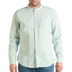 Зелена мъжка риза със столче яка RESERVED Regular fit