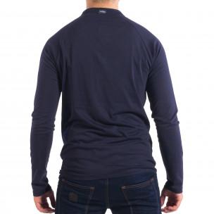 Мъжка синя блуза RESERVED с копчета 2