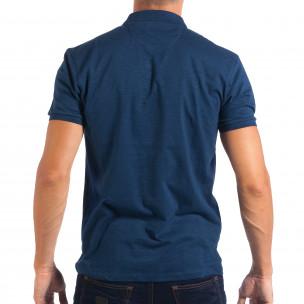 Мъжка синя тениска Reserved тип Polo shirt  2