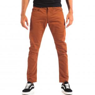 Мъжки тънък панталон CROPP в цвят камел