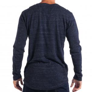 Мъжки лек пуловер House с копчета V-neck  2