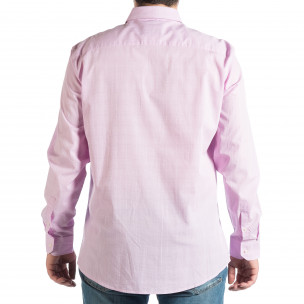 Мъжка лилава риза на фино каре 2