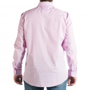 Мъжка лилава риза RESERVED на фино каре  2