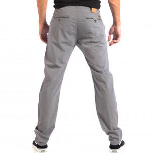 Летен мъжки панталон House в сиво 2