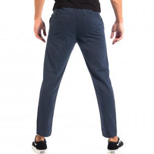 Летен мъжки панталон House синьо райе  2