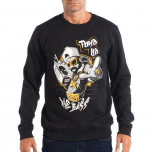Мъжка черна блуза CROPP с Hip-Hop мотив