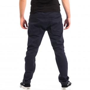 Мъжки син панталон CROPP с ластик на крачолите 2