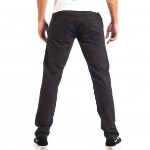 Мъжки Slim панталон RESERVED черен меланж  2