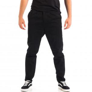 Мъжки черен Cropped Chino панталон RESERVED