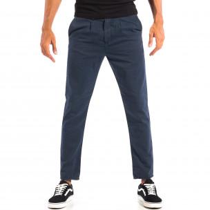 Летен мъжки панталон House синьо райе