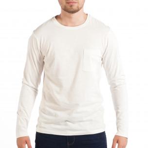 Мъжка бяла блуза RESERVED с джоб