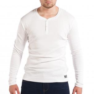 Еластична мъжка блуза House в бяло