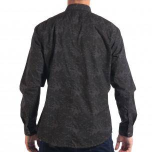 Мъжка риза сив камуфлаж  2