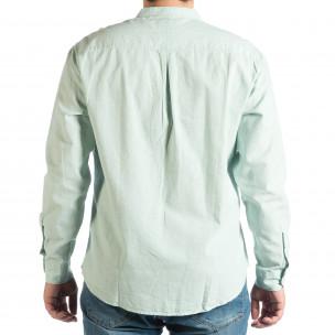 Зелена мъжка риза със столче яка RESERVED Regular fit  2