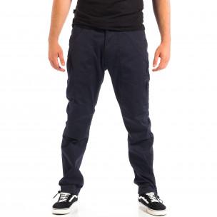 Мъжки син панталон CROPP с ластик на крачолите