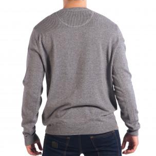Сив мъжки пуловер RESERVED с двойно деколте  2