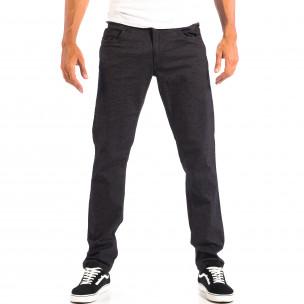 Мъжки Slim панталон RESERVED черен меланж
