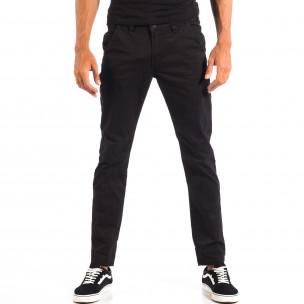 Мъжки черен Chino панталон CROPP
