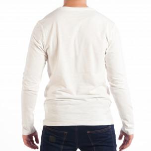 Мъжка бяла блуза RESERVED с джоб  2