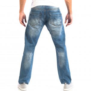 Мъжки сини дънки House ретро стил  2