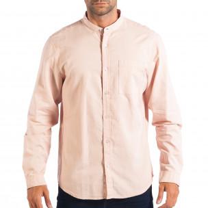 Regular риза със столче яка RESERVED в розово