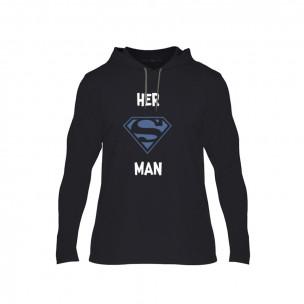 Мъжки суичър Superman Supergirl, размер XL