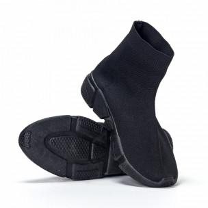 Мъжки черни slip-on маратонки All-black  2