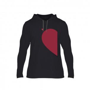 Мъжки суичър Half Heart, размер S