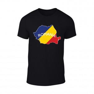 Мъжка черна тениска Romania