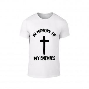 Мъжка бяла тениска In Memory of my Enemies
