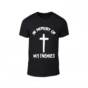 Мъжка черна тениска In Memory of my Enemies