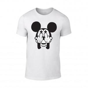 Мъжка бяла тениска Mickey