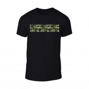 Мъжка черна тениска Military