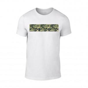 Мъжка бяла тениска Military TEEMAN