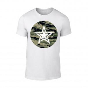 Мъжка бяла тениска Military Star