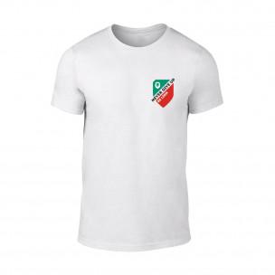 Мъжка бяла тениска Never Give Up