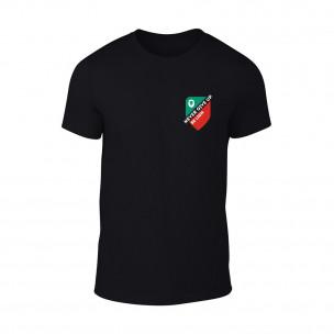 Мъжка черна тениска Never Give Up