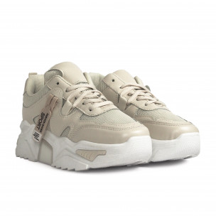 Chunky светлобежови дамски маратонки Sweet Shoes 2
